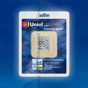 USW-001-LCD-DM-40/500W-TM-M-BG Блистер Выключатель с регулятором яркости лампы (диммер) и таймером выключения