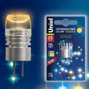 LED-JC-12/0,8W/YELLOW/G4