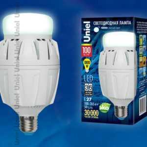 LED-M88-100W/NW/E27/FR ALV01WH картон