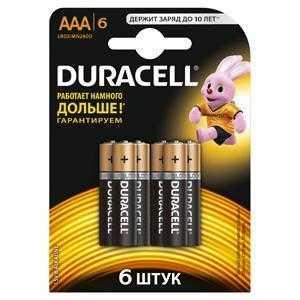 DURACELL LR03-6BL BASIC (6/60/33840)