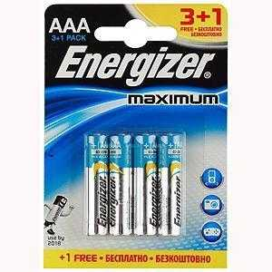 ENERGIZER LR03-4BL 3+1 MAXIMUM (4/48/39168)