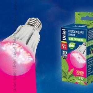 "LED-A60-9W/SP/E27/CL ALM01WH Лампа светодиодная для растений. Форма ""A"""