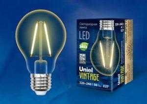 LED-A67-4W/GOLDEN/E27 GLV21GO Лампа светодиодная Vintage. Форма «A»