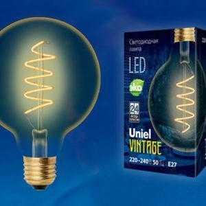 LED-G95-4W/GOLDEN/E27/CW GLV21GO Лампа светодиодная Vintage. Форма «шар»