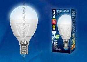 LED-G45-7W/NW/E14/FR PLP01WH картон