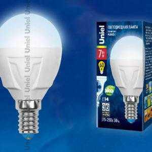LED-G45-7W/NW/E14/FR PLP01WH картон
