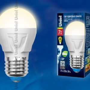 LED-G45-7W/WW/E27/FR PLP01WH картон