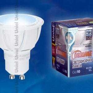 LED-JCDR-6W/NW/GU10/FR/DIM/38D ALP01WH пластик