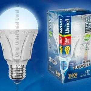 LED-A60-9W/NW/E27/FR ALP01WH пластик