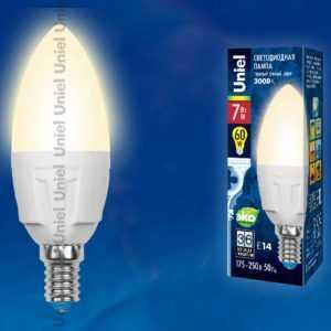 LED-C37-7W/WW/E14/FR PLP01WH картон