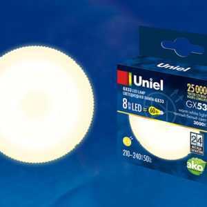 LED-GX53-8W/WW/GX53/FR PLZ01WH