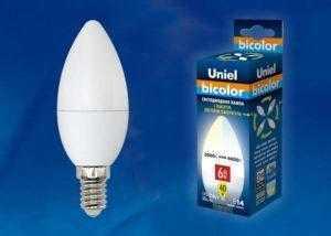 LED-C37-6W/WW+NW/E14/FR PLB01WH картон