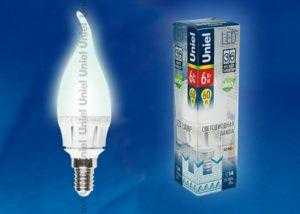LED-CW37-6W/NW/E14/FR ALM01WH пластик