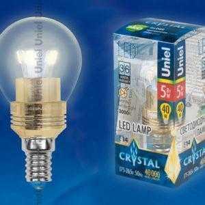 LED-G45P-5W/WW/E14/CL ALC02GD пластик