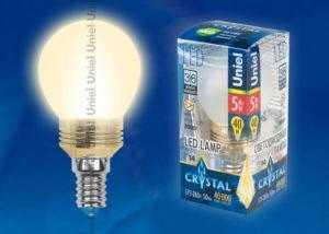 LED-G45P-5W/WW/E14/FR ALC02GD пластик