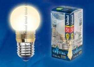 LED-G45P-5W/WW/E27/FR ALC02GD пластик