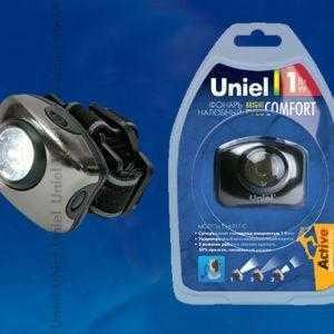 S-HL011-C Gun Metal Фонарь Uniel серии Стандарт «Bright eyes — comfort»