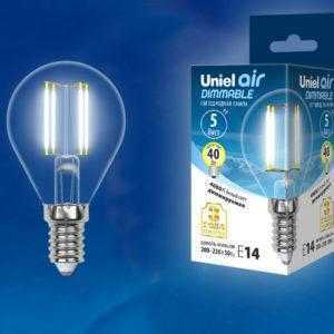 LED-G45-5W/NW/E14/CL/DIM GLA01TR картон