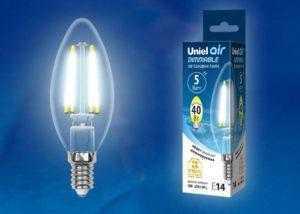 LED-C35-5W/NW/E14/CL/DIM GLA01TR картон
