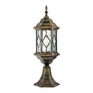 Светильник садово-парковый Feron PL124 шестигранный на постамент 60W E27 230V