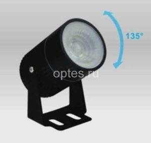 Светильник светодиодный архитектурный MS-SLS-K101A 8W R-GREEN-60-BLACK-220-IP65
