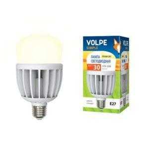 Светодиодная лампа серии Simple высокой мощности LED-M80-30W/WW/E27/FR/S