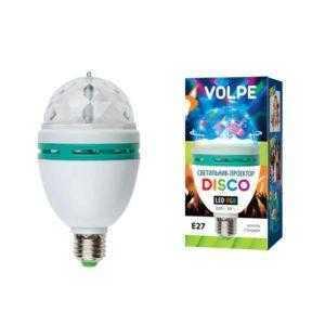 Светодиодный светильник-проектор серии «Диско» ULI-Q301 03W/RGB/E27 WHITE
