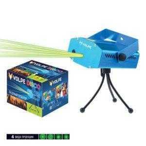 UDL-Q350 4P/G BLUE Лазерный проектор. 4 типа проекции. Микрофон. Регулировка скорости вращения лазера и частоты пульсации. ТМ Volpe