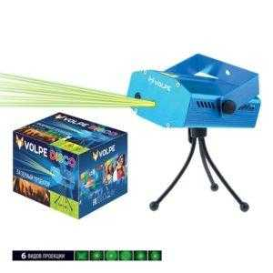 UDL-Q350 6P/G BLUE Лазерный проектор. 6 типов проекции. Микрофон. Регулировка скорости вращения лазера и частоты пульсации. ТМ Volpe