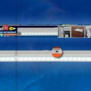ULE-F02-2W/NW/OS IP20 SILVER Светодиодный светильник с датчиком открывания двери. Длина 27
