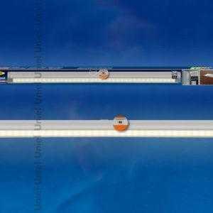 ULE-F02-2W/WW/OS IP20 SILVER Светодиодный светильник с датчиком открывания двери. Длина 27