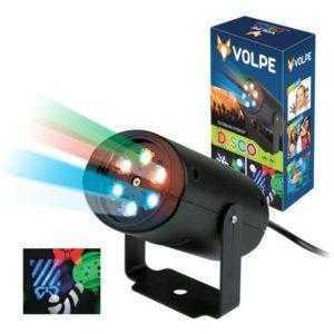 ULI-Q306 4W/RGB BLACK XMAS Светодиодный светильник-проектор. Проекция «рождество»