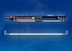 ULM-F31-9W/WW IP20 SILVER Светильник светодиодный поворотный для интерьерного освещения. В комплекте с адаптером. Длина 59 см. Теплый белый свет.