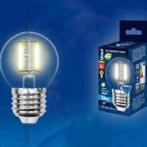 LED-G45-6W/WW/E27/CL PLS02WH картон