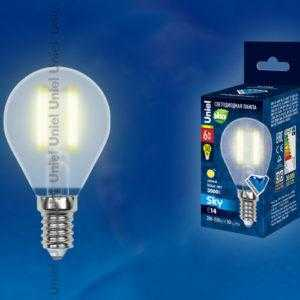 LED-G45-6W/WW/E14/FR PLS02WH картон