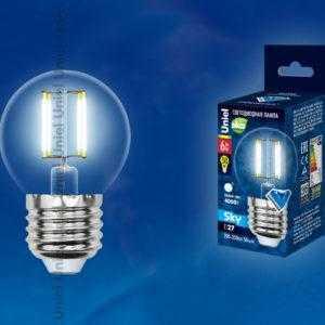 LED-G45-6W/NW/E27/CL PLS02WH картон