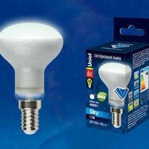 LED-R50-6W/NW/E14/FR PLS02WH картон