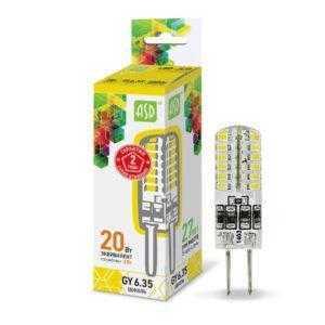 ЛАМПА СД LED-JCD-STD 2ВТ 230В GY6,35 3000К 180ЛМ ASD