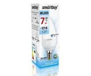 Светодиодная (LED) Лампа Smartbuy-C37-07W/4000/E14