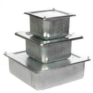 Коробки металлические