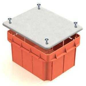 Коробки распаячные для твердых стен (кирпич, бетон)