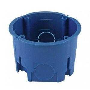 Установочная коробка СП D68х45мм, без саморезов, синяя, IP20, TDM
