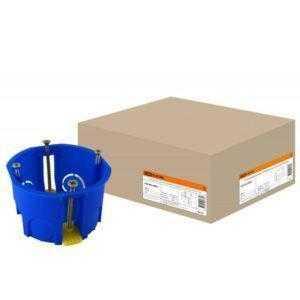 8209 1 300x300 - Установочная коробка СП D68х45мм, саморезы, пл. лапки, синяя, IP20, TDM