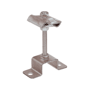 Держатель-зажим соединительный круглого проводника 8-10 мм опорный, оцинк.
