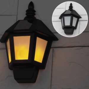 121212854217778522 300x300 - ERAFS08-36 ЭРА Фасадный светильник Фонарь, 2 режима(огонь, холодный свет), на солн. бат., 40LED,7lm