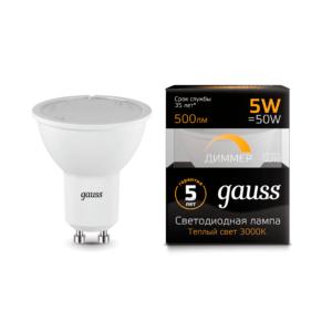 101506105 d 300x300 - Лампа Gauss LED MR16 GU10-dim 5W 3000K диммируемая