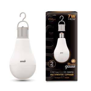102402107 300x300 - Лампа Gauss LED A60 с Li-Ion аккумулятором