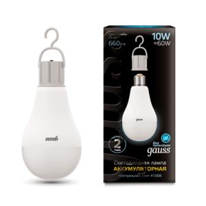 102402200 300x300 - Лампа Gauss LED A60 с Li-Ion аккумулятором