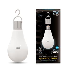 102402207 300x300 - Лампа Gauss LED A60 с Li-Ion аккумулятором