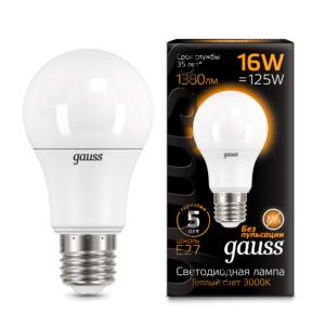 102502116 300x300 - Лампа Gauss LED A60 16W E27 3000K